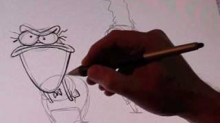 Rocko Creator Joe Murray Draws Ed & Bev Bighead