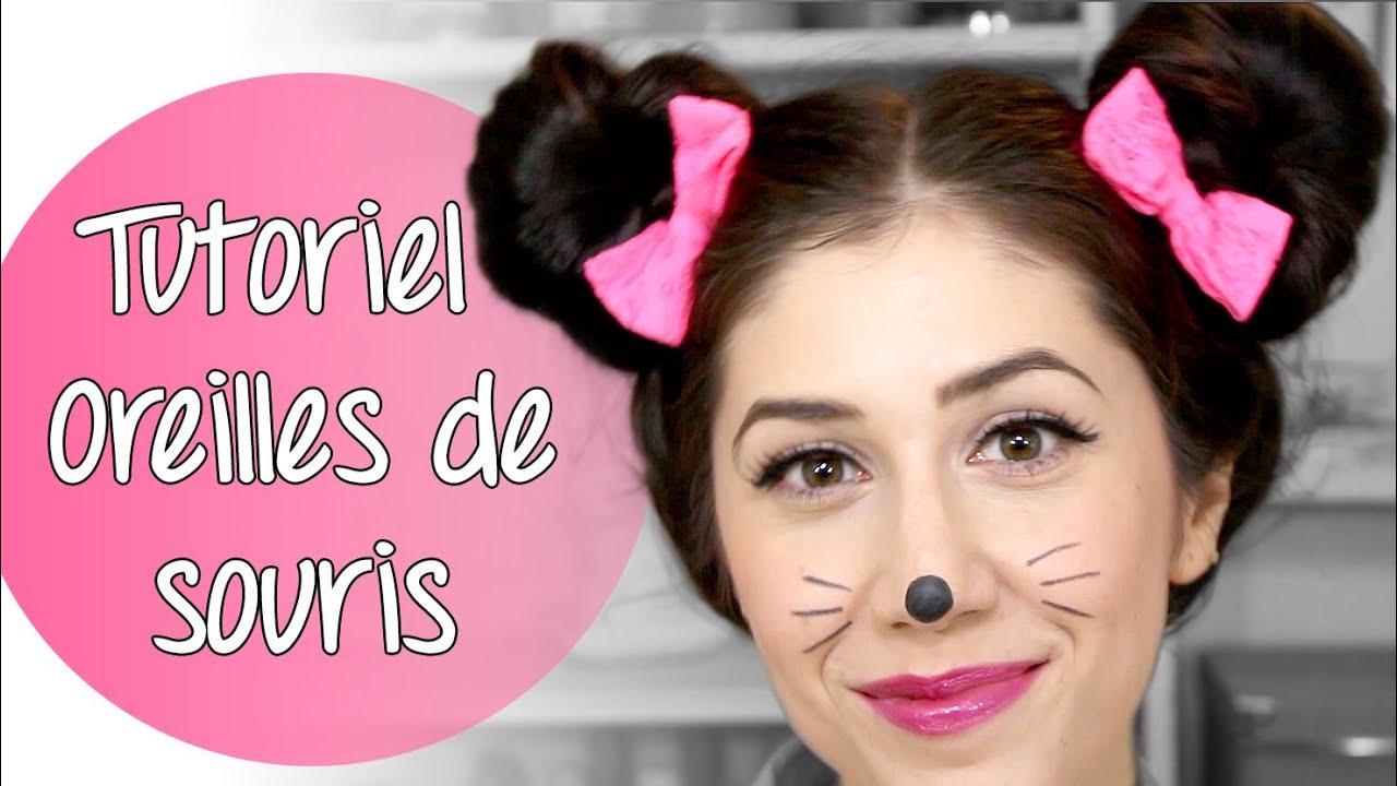 Halloween tutoriel oreilles de souris tout sur les cheveux youtube - Maquillage de sorciere facile a faire ...