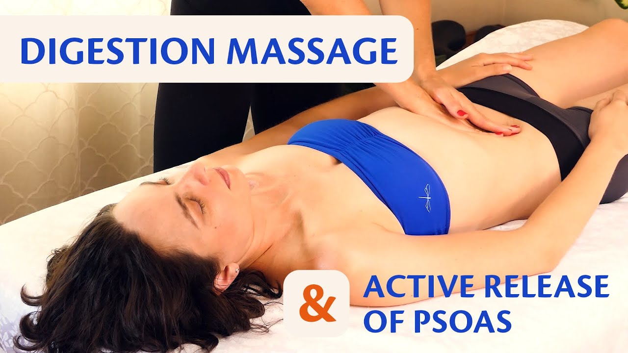 Ultra Relaxing Stomach Massage for Digestion & Active Release with Tessa & Melissa