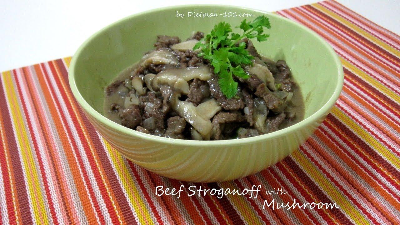 adkins diet recipe hamburger and mushroom