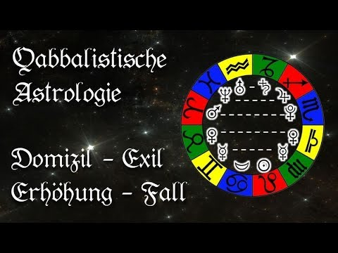 Die Planeten: Domizil, Erhöhung, Exil und Fall - Qabbalistische Astrologie - Lehrvideo Horoskop