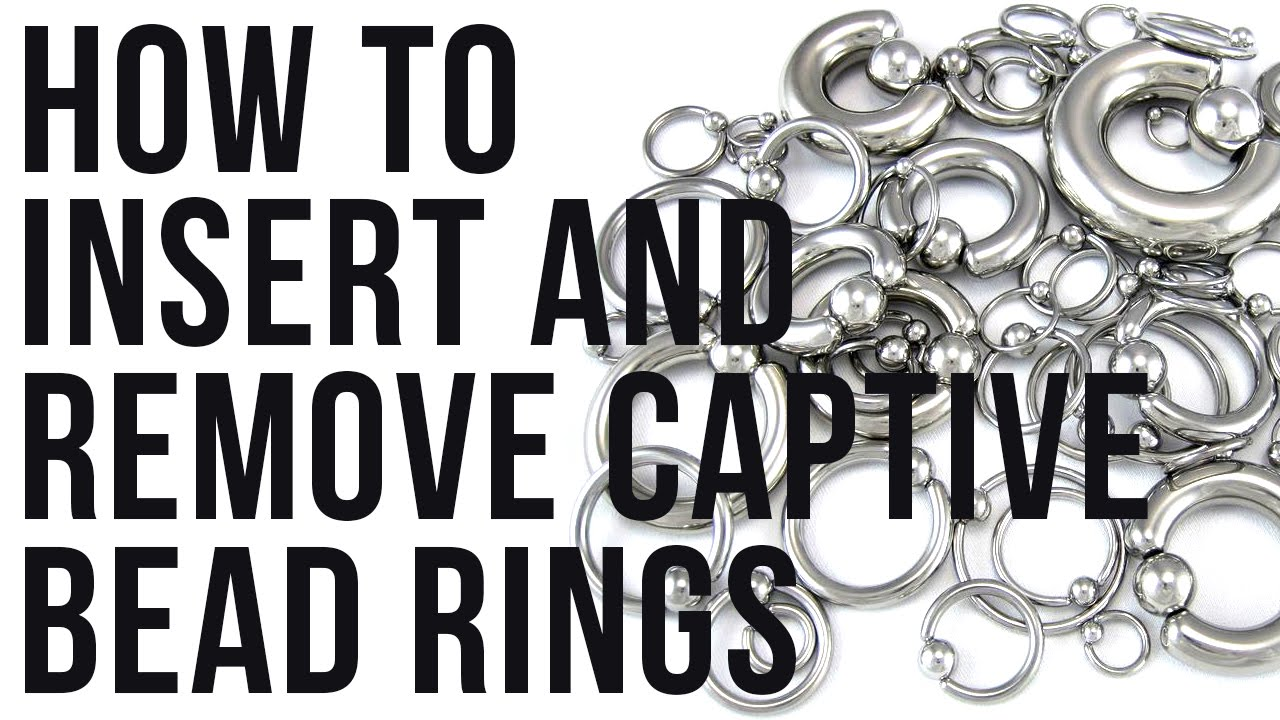 How To Insert Remove Captive Bead Rings Urbanbodyjewelrycom