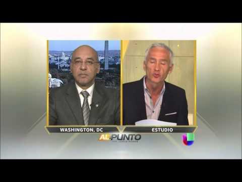 El embajador Dominicano en Washington Anibal de Castro con Jorge Ramos en Al Punto
