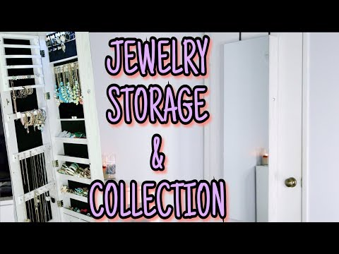 Jewelry Storage & Collection | AOOU Jewelry Organizer Cabinet Review