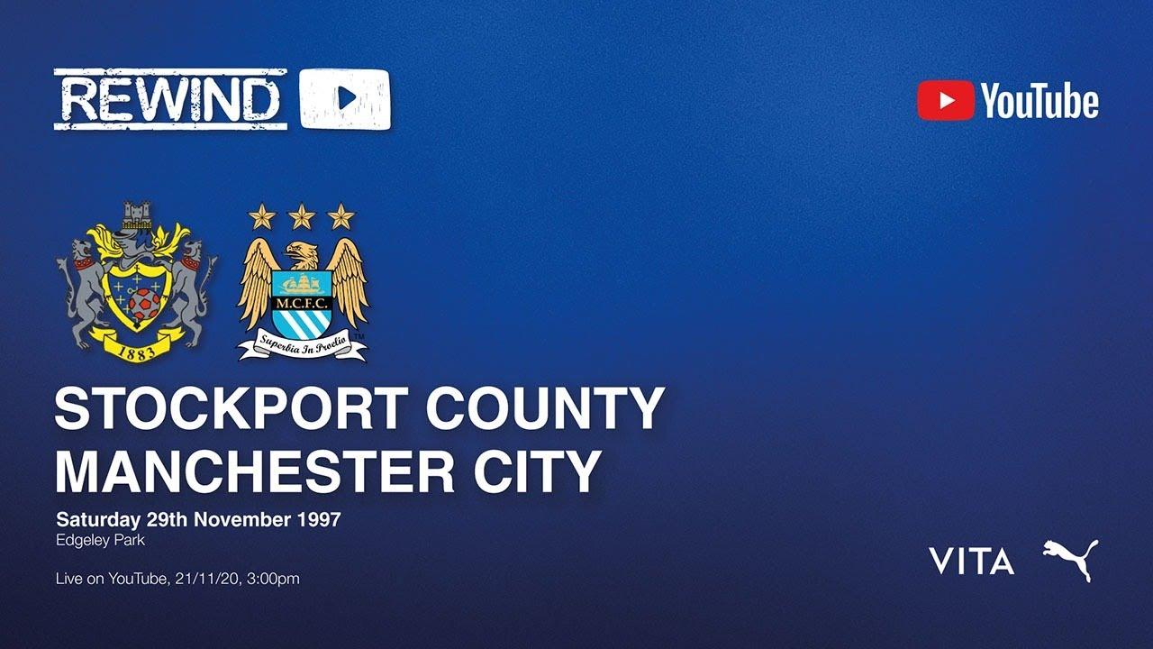 Stockport County Vs Manchester City - 29th Nov 1997 - Match Stream
