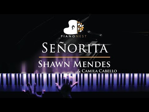Shawn Mendes Camila Cabello - Senorita - Piano Karaoke  Sing Along Cover with