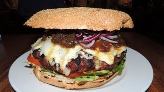 Ad Lib Burgers 3lb Monster Burger Challenge Record - Food Challenge