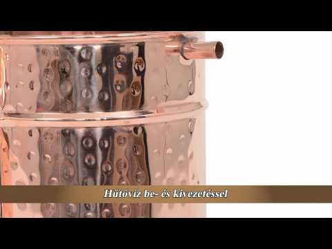 CopperGarden Alembik pálinkafőző, forrasztott