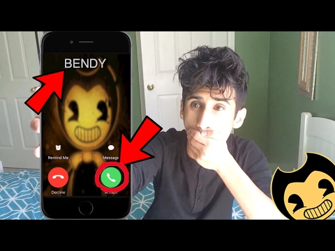 CALLING BENDY *OMG HE ACTUALLY ANSWERED* (Bendy and The Ink Machine)