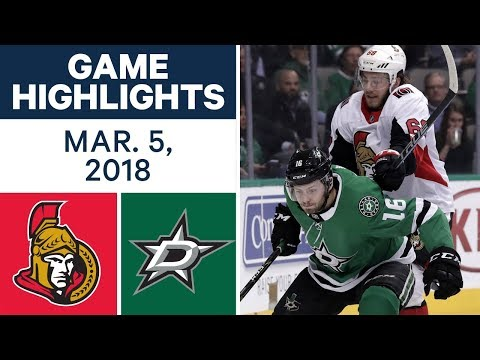 NHL Game Highlights | Senators vs. Stars - Mar. 05, 2018