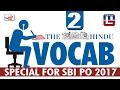THE HINDU VOCAB : 2 | SBI PO 2017