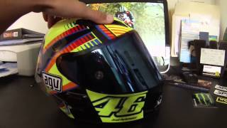 fast fz09   gear review   agv corsa sole luna   rossi helmet