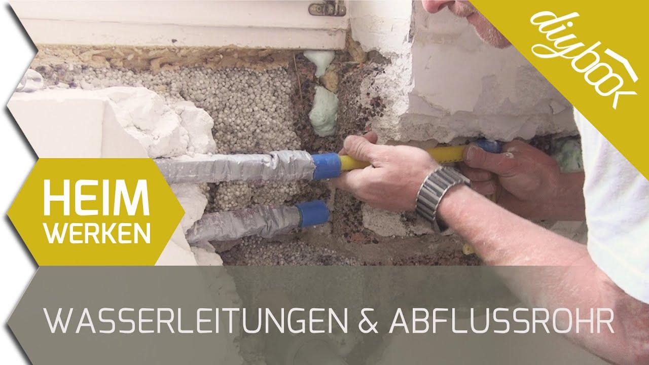 wasserleitungen und abflussrohr verlegen - 2d - youtube