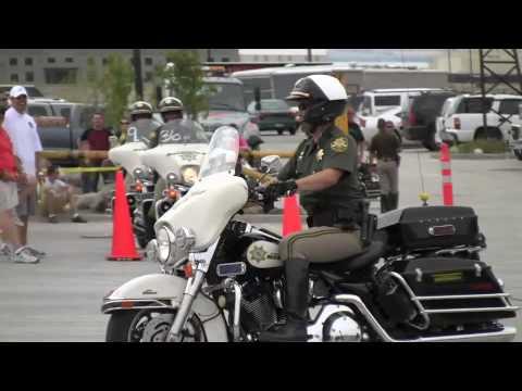 honda bmw harley police motorcycle barrel racing competition - youtube
