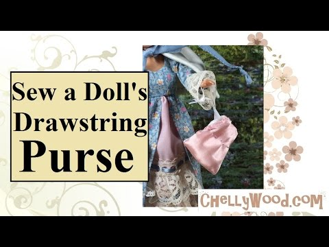 Sew a Doll's Drawstring Purse DIY Tutorial