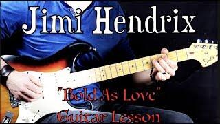 "Jimi Hendrix - ""Bold As Love"" (PART 1) - Rock Guitar Lesson (w/Tabs)"