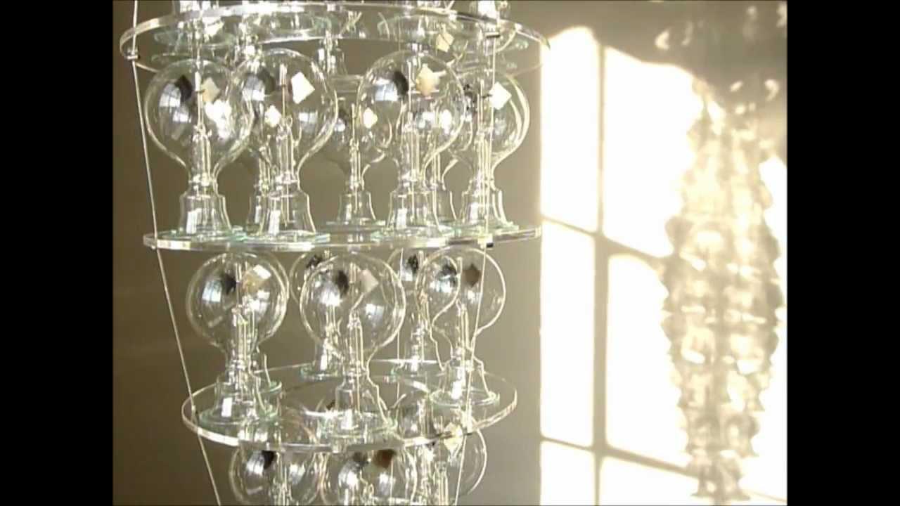solar powered chandelier artwork.wmv, Lighting ideas