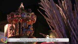Le Marché de Noël d'Avallon (89) sur les Terreaux Vauban