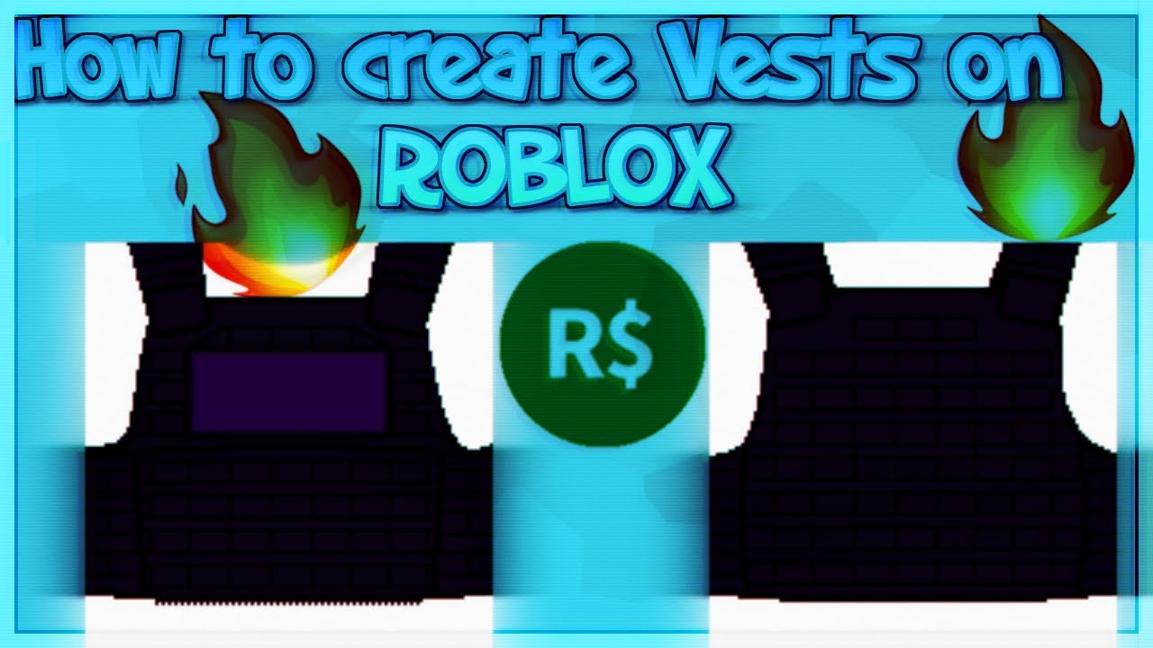How To Create Vests On Roblox Youtube