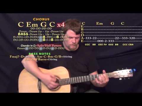 Ghost Town (Adam Lambert) Guitar Lesson Chord Chart