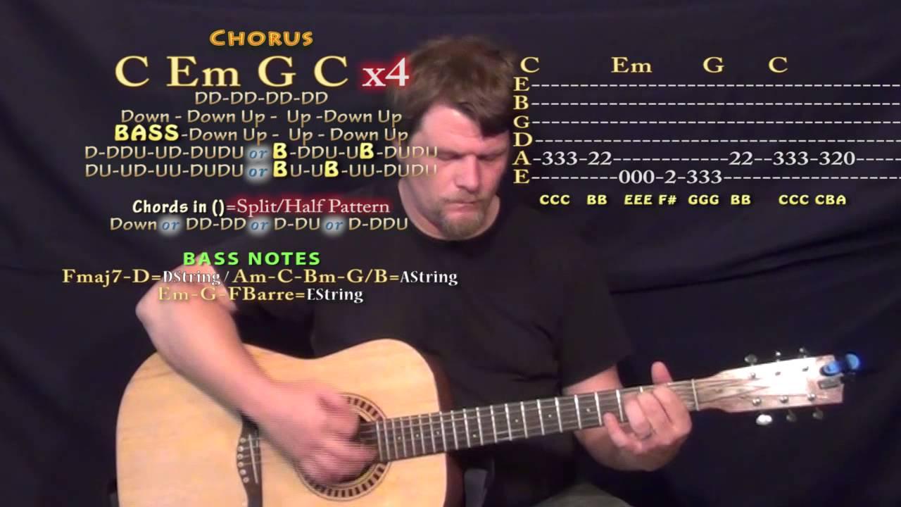 Ghost Town (Adam Lambert) Guitar Lesson Chord Chart - YouTube