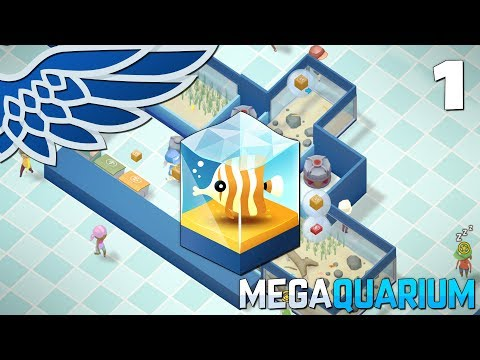 MEGAQUARIUM | Fishy Business Part 1 - Aquarium Management Let's Play Gameplay