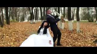 Свадебная прогулка Дмитрий и Наталья г.Губкин 18 октября 2014 год