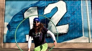 Seattle Seahawks 12th Hula Hoop Man