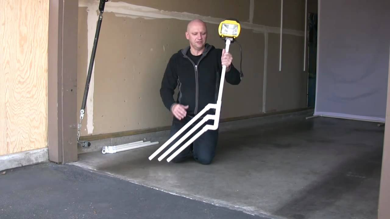 DIY PVC Light Stand - YouTube