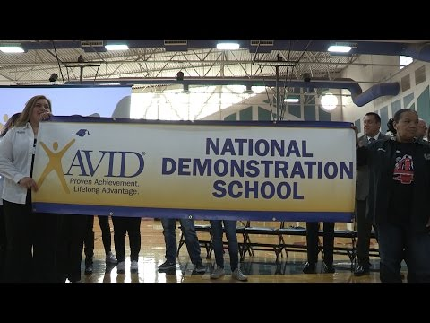 Desert View Middle School celebrated their AVID revalidation