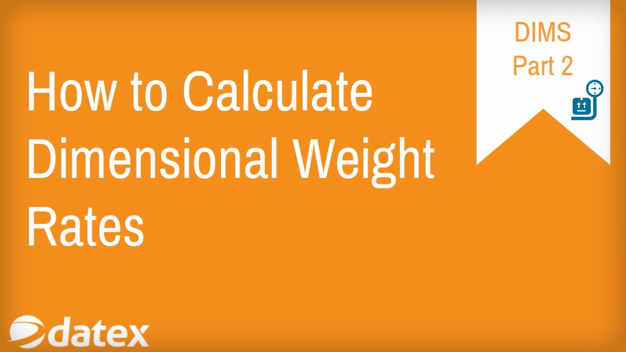 How To Calculate Dimensional Weight Rates For Ups And Fedex Part2