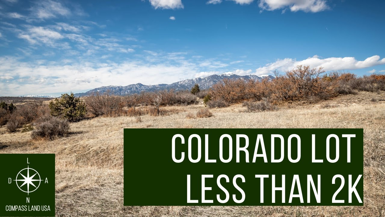 Sold by Compass Land USA - 0.3 Acres Colorado Land Less than 2k with Mountain Views