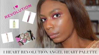 I HEART REVOLUTION GIVEAWAY! ANGEL HEART PALETTE TEST AND REVIEW!