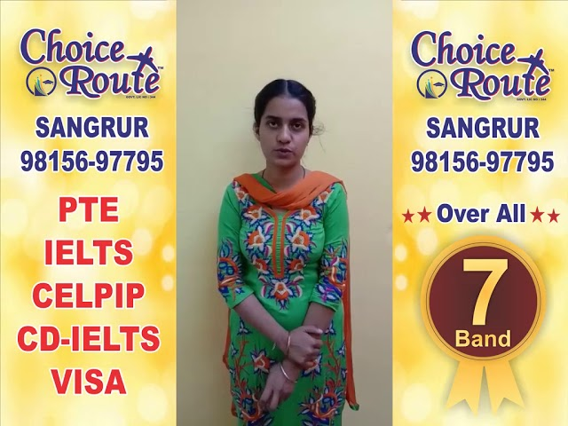 Congratularions Kuldeep Kaur - Choice Route is the Best PTE and IELTS institute in Sangrur City.