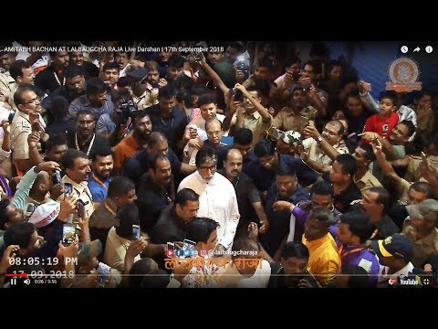 AMITABH BACHCHAN AT LALBAUGCHA RAJA Live Darshan  | 17th September 2018