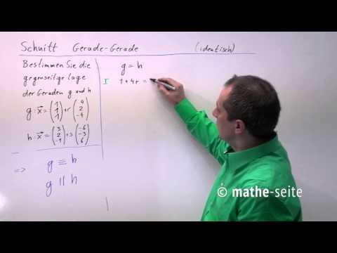 Schnittpunkt Gerade Ebene berechnen, Beispiel 1 | V.02.02 from YouTube · Duration:  3 minutes 52 seconds
