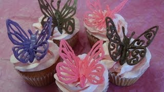 """Decorating Cupcakes #120: Butterflies And """"love Mom"""" Decorations (for Mother's Day) -with Yoyomax12"""