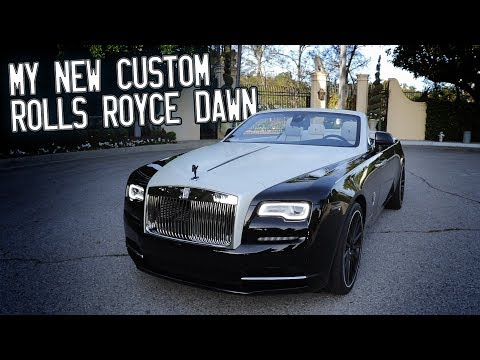Here in my garage, my custom Rolls Royce Dawn!