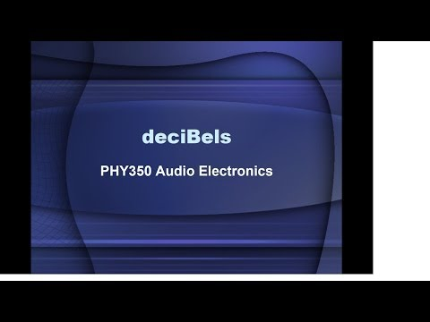 Intro to deciBels