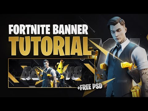 PS/C4D: Fortnite Season 2 Banner Tutorial (FREE PSD) - By EdwardDZN