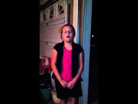 Zoe singing Taylor swift age 9