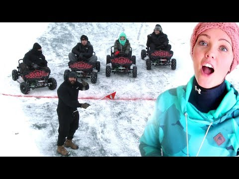 Download Youtube: THEY CHEATED SO BAD!! GoKart Ice Racing