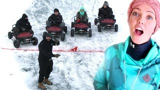 THEY CHEATED SO BAD!! GoKart Ice Racing