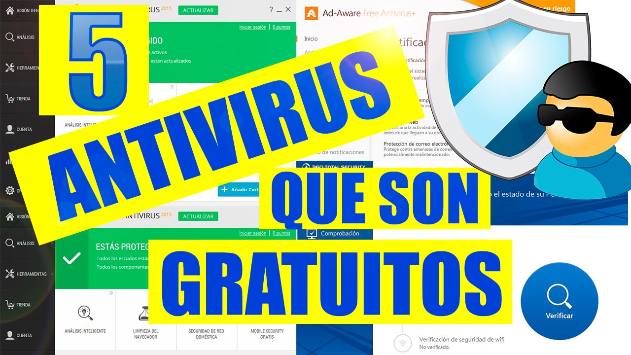 5 Antivirus Gratis En Espa 241 Ol Para Windows 10 8 7 Youtube