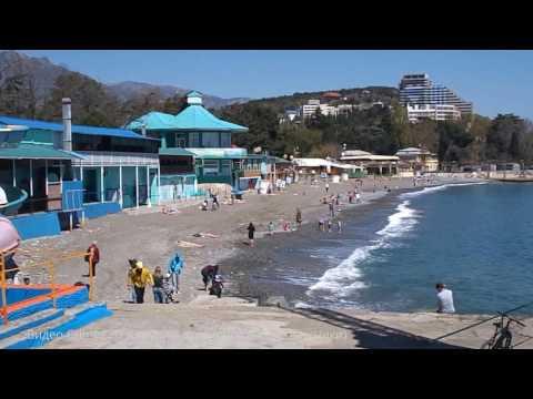 Crimea. Крым. Алушта сегодня (28.04.2017) - набережная и море