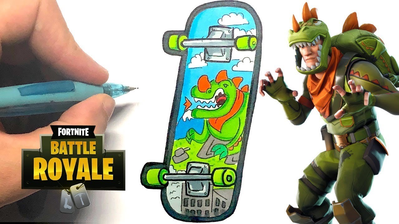 Tuto Dessin Skate Rex Fortnite Youtube