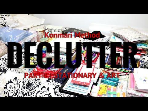 Konmari Method Declutter - Part 8 Stationary and Art Supplies