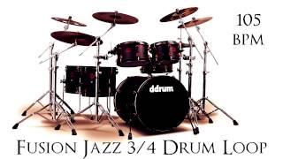 Fusion Jazz 3/4 Drum Loop 105 bpm