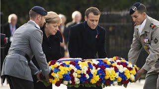 Merkel y Macron, un histórico encuentro en el punto del armisticio de 1918