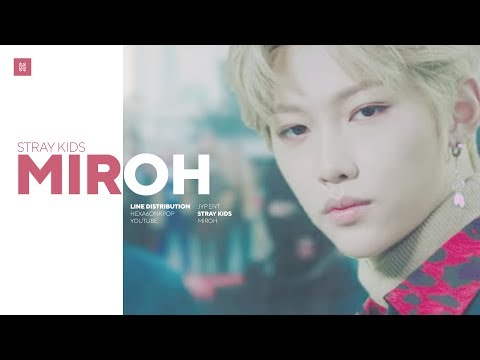 Stray Kids - MIROH Line Distribution (Color Coded) | 스트레이 키즈 - 미로